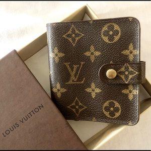 Louis Vuitton ZIP Compact Monogram Wallet